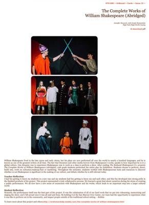 15_Issue15_TheCompleteWorksofWilliamShakespeareAbridged
